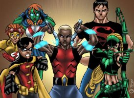 Young Justice by MarcBourcier