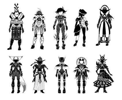 Warrior thumbnails sketches by Katie-Murphy