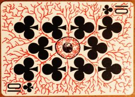 Ten of Clubs - Eye by CardCemetary