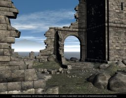 FREE STOCK Background Castle Ruins 2 by ArtReferenceSource