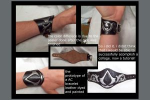assassins creed bracelet by MerrillsLeather