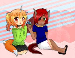 AW:: little kagami and dante by harmpink456
