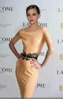 Emma Watson wearing Latex dress by Andylatex