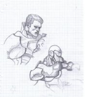 Iron man sketches by spoiler91