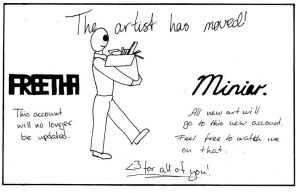 The Artist Has Moved by Freetha