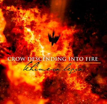 Crow Descending into Fire by Antekvist