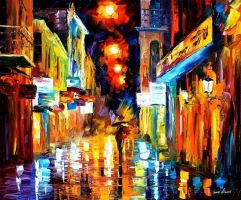 Afremov LIGHTS Original Art Oi by Leonidafremov
