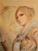 Annie Leonhart -- realistic version (hand drawn) by Akatsuki-Rei