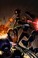 Xmen Attack by Habjan81