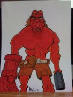 Hellboy Color Commission by XxPohGoxX