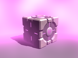 Companion cube by DimensionSifter