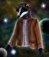 The Doctor (Matt Smith) as a Badger by SpiritInSpace