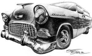 56 Chevy Sedan Delivery by NeoZeroX
