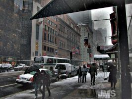 Snow on Old 57th by steeber