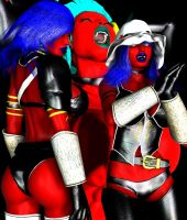 The Satina Sisters (HEROINES BIO) by Realms-And-Void