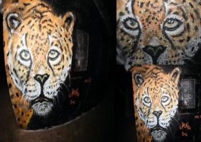 leopard graffiti by chromers by chromers-art