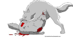 Wolf's Rain - Fight by LineArtForFree