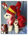 Mlp Cherry Jubilee plushie commission by CINNAMON-STITCH