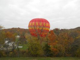 Hot air balloon in Kneff Farms by ToaDJacara