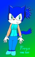 Freya the Cat COLORED :3 by PhoenixManX-XL