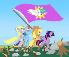 Raising The Equestrian Flag by Shutterflye