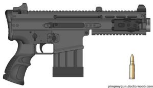 Gale Force GG-25 Heavy Pistol by Chris000