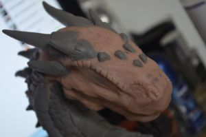 Dragon Bust WIP by dcX1991