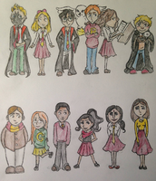 Gryffindor Classmates by DidxSomeonexSayxMad