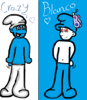 Crazy and Blanco by TeenSmurfette