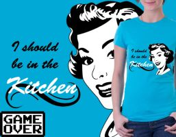 Shirt: Retro Woman by GAME-OVER-CUSTOM