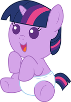 Cheerful Baby Twilight Sparkle by Mighty355