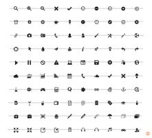 500 Ultimative Mono Icons Package (02) by KL-Webmedia