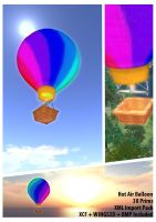 Second Life - Hot Air Balloon by gnu32