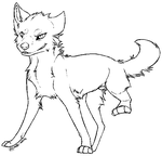 Free Canine Lineart by Malk-White