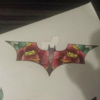 Old school batman symbol by mnemonic30