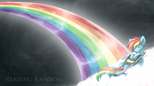 Readin' Rainboooow~ by BatLover800