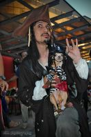 Captain Jack with his pet by z3LLLL