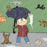 When it rains cats and dogs... by AskGomlesh