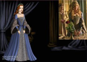 Katherine Howard- Turquoise Gown by EriksAngelOfMusic22