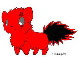Adoptable Wolf - Red ~ Black by BannedForever