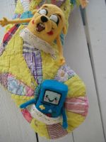 Adventure Time Needle Felted Stocking by CatsFeltLings