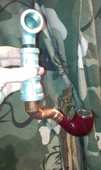 My steampunk Pipe by MechanicalMichael