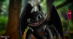 Toothless From Sketch - Digital Painting. by Fragsey
