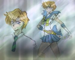 sailor Uranus Sketh by Lucceira