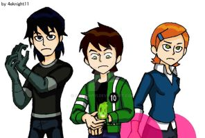 Kid again Ben10 BenGwenKevin by 4eknight11