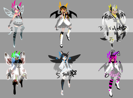 SERAPHIAN ADOPTABLES: Set 2 CLOSED by arcevaus