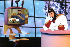 Space Ghost watches Billy Mays by PrezDEagle