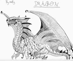 My fav Dragon Drawing by zeffy101