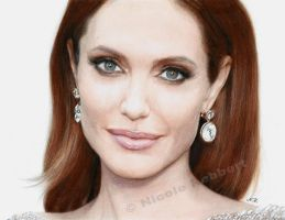 Angelina Jolie (drawing) by Quelchii