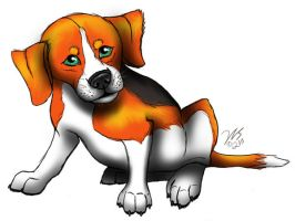 Avani Simpleton in Beagle form by WolfScribe
